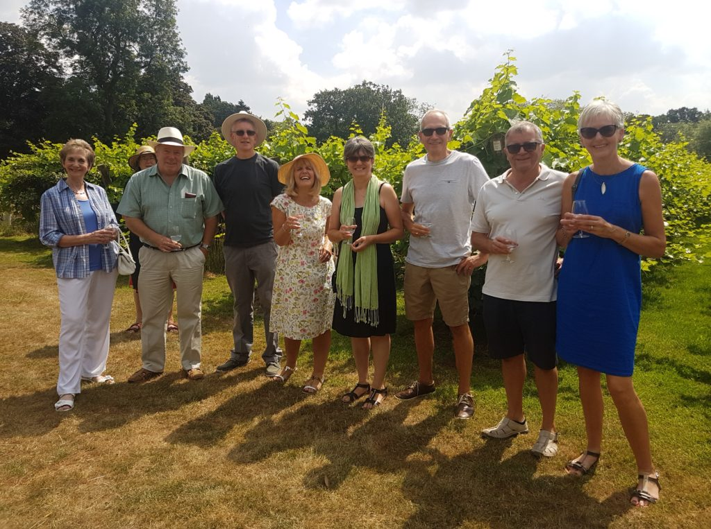 English wine tour and tasting