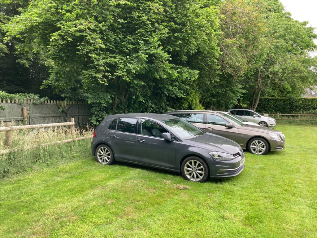Cars parked at Rothley Wine Estate